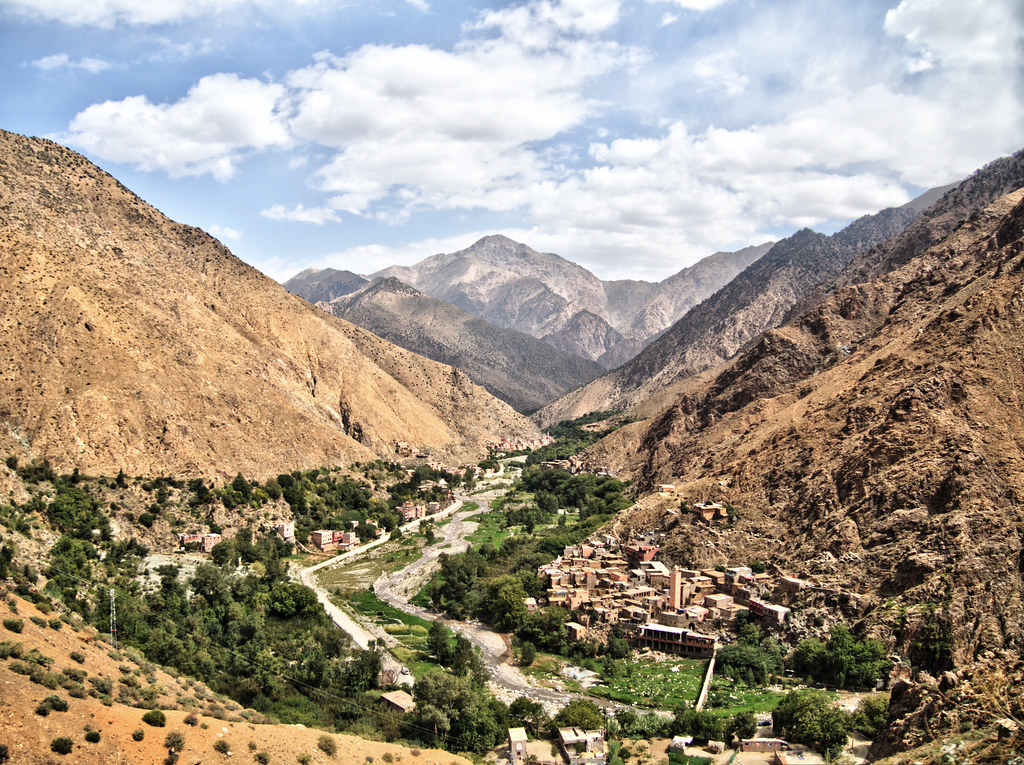 Views of the trip to the Atlas Mountains in Morocco