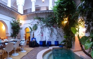 Center of Courtyard in the Riad in Morocco where the Friends stayed